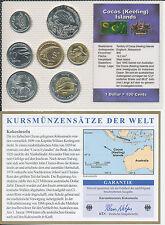 Cocos (Keeling) Islands - KMS 7 Münzen aus 2004 - UNC Satz mit BTN Zertifikat