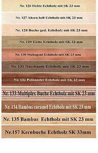 Umleimer, Kantenumleimer Echtholz 5 Meter mit SK. 23mm