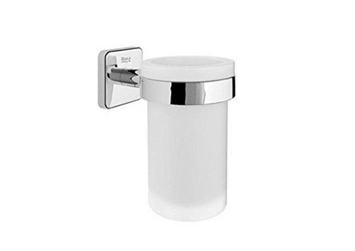 Roca Victoria A816681001 - Wall-Mounted Cup Holder - Chrome-Plated