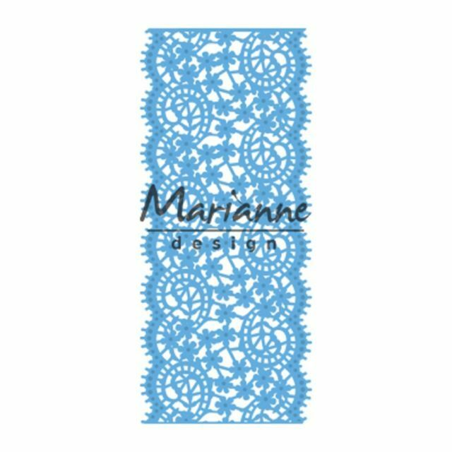 Marianne Creatables Die Cut /& Embosssing Stencil Border Ice Crystals LR0486