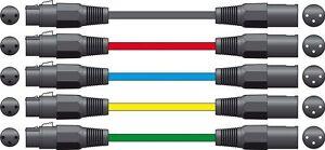Chord-190-090-Nero-1-5m-Bilanciato-Microfono-Audio-Lead-XLR-XLR-A-Donna-MASCHIO