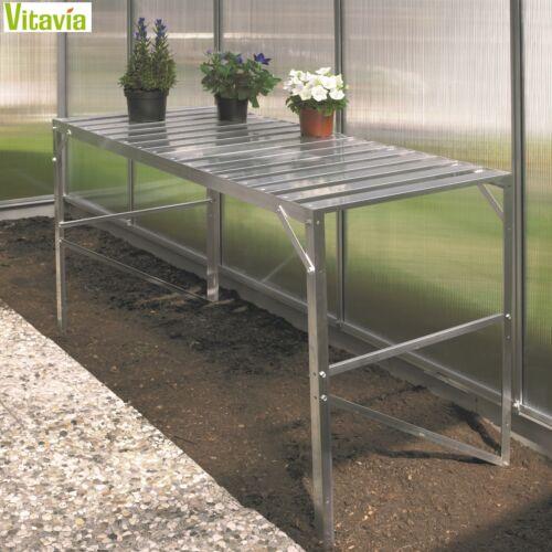 BxTxH:121x54x76cm Vitavia Aluminiumtisch Gewächshaus Tisch 1 Ablage eloxiert