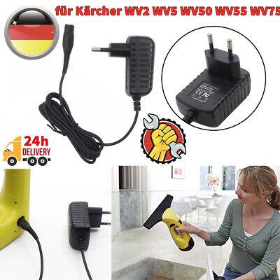 Ladegerät EU Netzteil für Kärcher Fenstersauger WV2 WV5 WV50 WV55 WV 75 Plus uvm