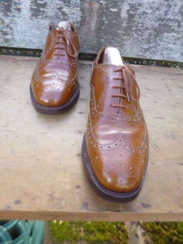 8 Burwood Marrone Tan Church Brogues eccellenti Vintage Uk Condizioni CxwqngZTa
