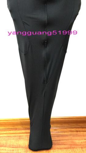 Black Lycra Mummy Suit Costumes Unisex Sleeping Bag With internal Sleeves F130