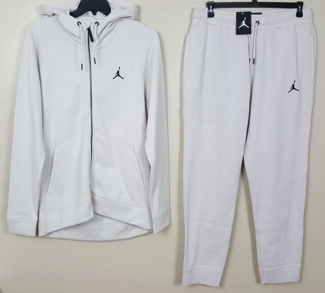 ee6c12fab5 Nike Jordan Wings Fleece Sweatsuit Hoodie Pants Beige Tan Sz Large Medium