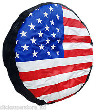 US American Flag Rear Spare Tyre wheel COVER wheelcover 4X4 CRV All Sizes