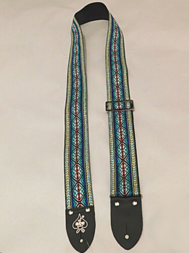 "D/'Andrea Reissue ACE 13 Summer of 69/' Jacquard Weave 2/"" wide Guitar Strap"