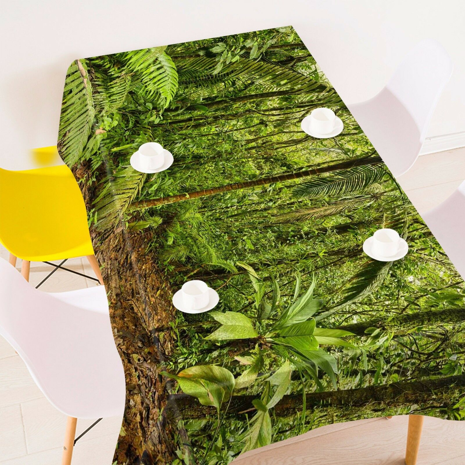 3D Forest 44 Tablecloth Tablecloth Tablecloth Table Cover Cloth Birthday Party AJ WALLPAPER UK Lemon 21ac55