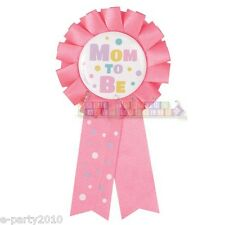 PINK MOM TO BE AWARD GUEST OF HONOR RIBBON ~ Baby Shower Party Supplies Favor