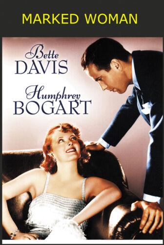 1937 Bette Davis Humphrey Bogart movie poster print Marked Woman