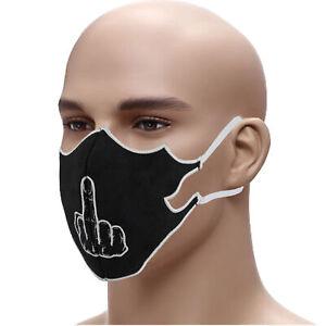 Mundschutz Mit Mittelfinger