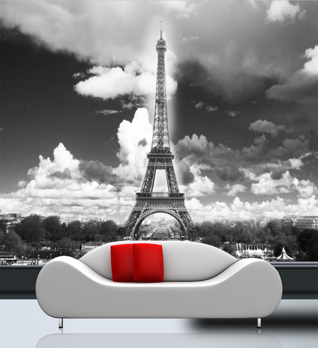 3D Tower Under The Clouds 27 Wall Paper Wall Print Decal Wall Deco Indoor Wall