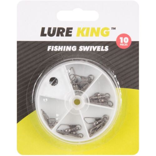 10pc Quick Change Tangle Free Fishing Swivels Rolling Sizes 4 5 6 7 8 Tackle