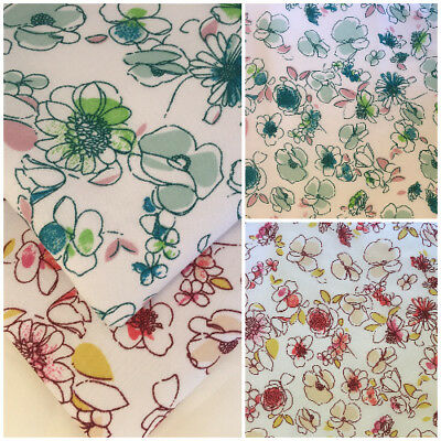 Fat Quarters Metres Vintage Roses Polycotton Fabric Bunting Dressmaking Retro