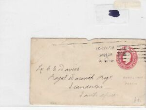 army+navy perfined london to africa stamps cover   ref 8611