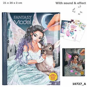 depesche top model livre de coloriage modèle fantaisie avec del  sound iceprincess | ebay