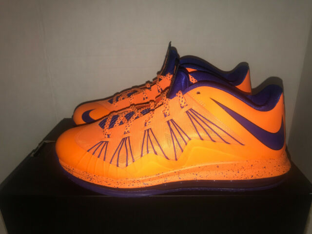 ca05ebfc85d Nike Air Max Lebron X Low Mens Size 11 579765-800 Citrus Orange ...