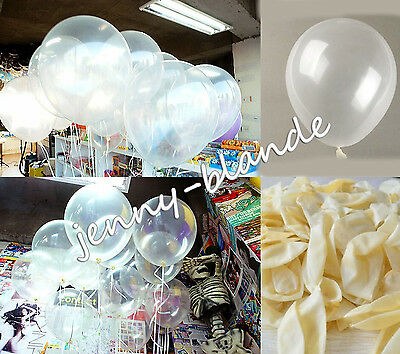 10-100 Clear Pearl Transparent Latex Balloons Birthday Wedding Party Decor 10""