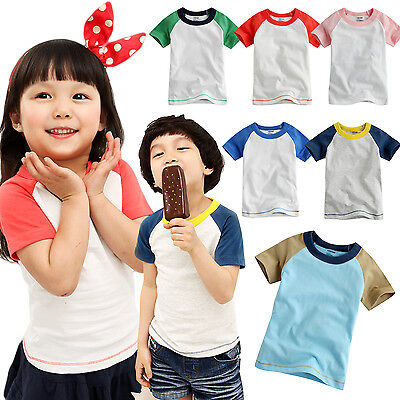 Selfless Wholesale Lots Vaenait Baby Toddler Kids Unisex 6 Colors Raglan T-shirts 12m-5t To Reduce Body Weight And Prolong Life