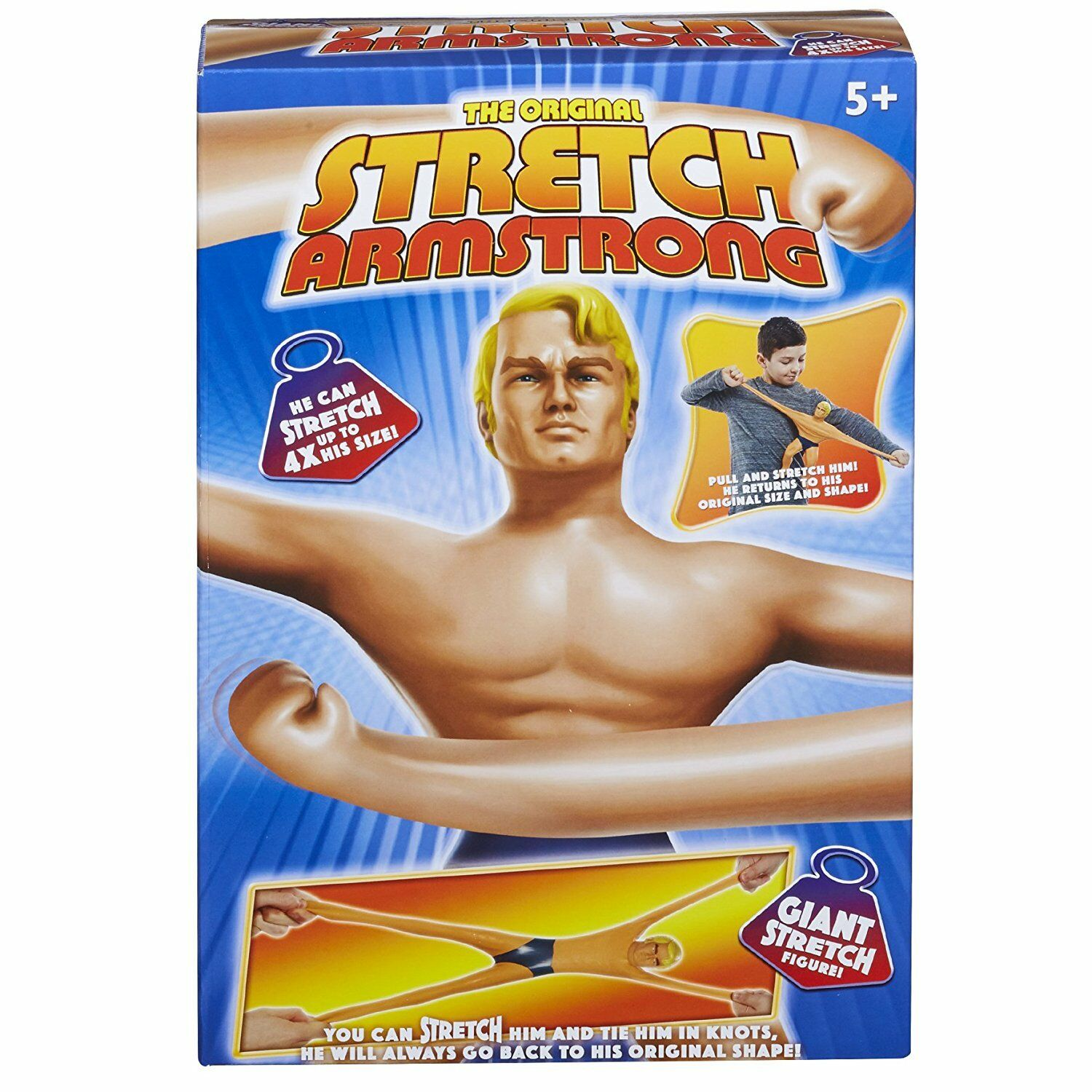 NEW Stretch Armstrong Figure - For ages 5 plus years -  Perfect Gift