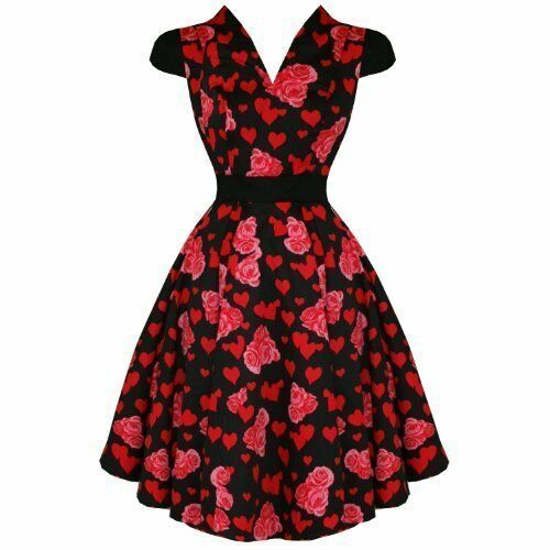 Hearts /& Roses Swing Dress Black Size 10 Prom 50/'s Rockabilly Goth