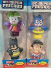 Little People DC Super Friends BATMAN, THE JOKER, WONDER WOMAN, BATGIRL NIB