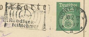 DT-REICH-1932-Sonderpostkarte-100jaehrigen-Todestag-Goethes-6-Pf-GORLITZ-RUNDFUNK