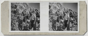 Amateur-Stereophoto-Junge-Bergwanderer-um-1945