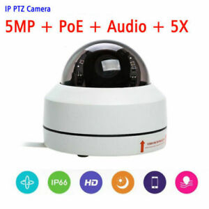 NEW-5MP-POE-Mini-Dome-IP-PTZ-Camera-5X-Optical-zoom-IP66-Outdoor-Audio-input