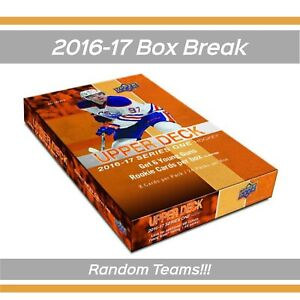1-Left-16-17-Upper-Deck-Hockey-SERIES-1-BOX-BREAK-Random-Teams-Free-Shipping