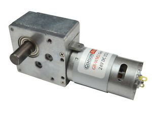 12v 24v dc high torque worm gear electric motor 152 1 for 12 volt dc right angle gear motor