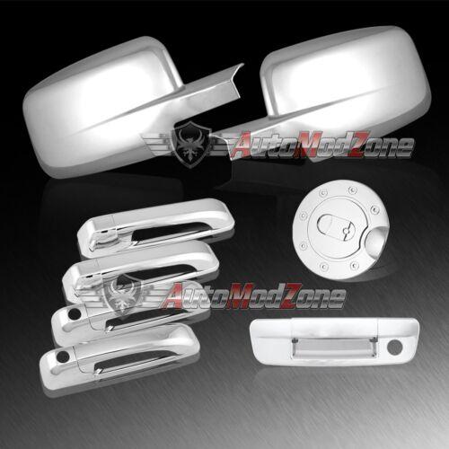 09-17 Dodge RAM Chrome 4 Door Handle Tailgate Full  Mirror Gas Cap Cover