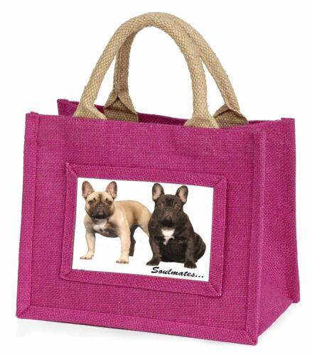 French Bulldogs /'Soulmates/' Sentiment Little Girls Small Pink Shoppi SOUL-31BMP
