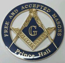 Prince Hall Affiliated Masonic Car Emblem in Blue