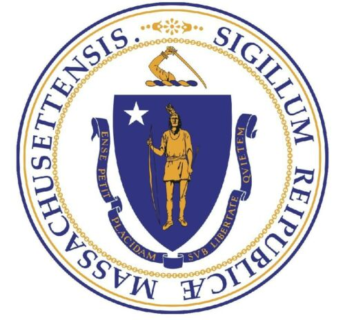 Massachusetts State Seal Sticker MADE IN THE USA R540