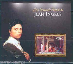 AFRIQUE-CENTRALE-2012-Jean-Ingres-SOUVENIR-SHEET-Comme-neuf-NH