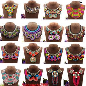 Bohemia-Necklace-Pendant-Lady-Statement-Choker-Boho-Ethnic-Collar-Tribal-Jewelry