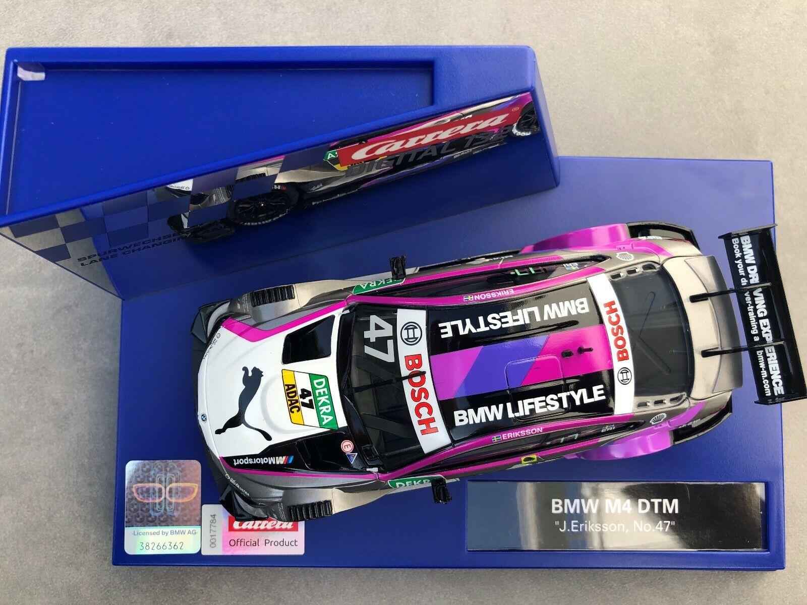 "47/""  NEU OVP Carrera Digital 132 20030882 30882 BMW M4 DTM /"" J Eriksson No"