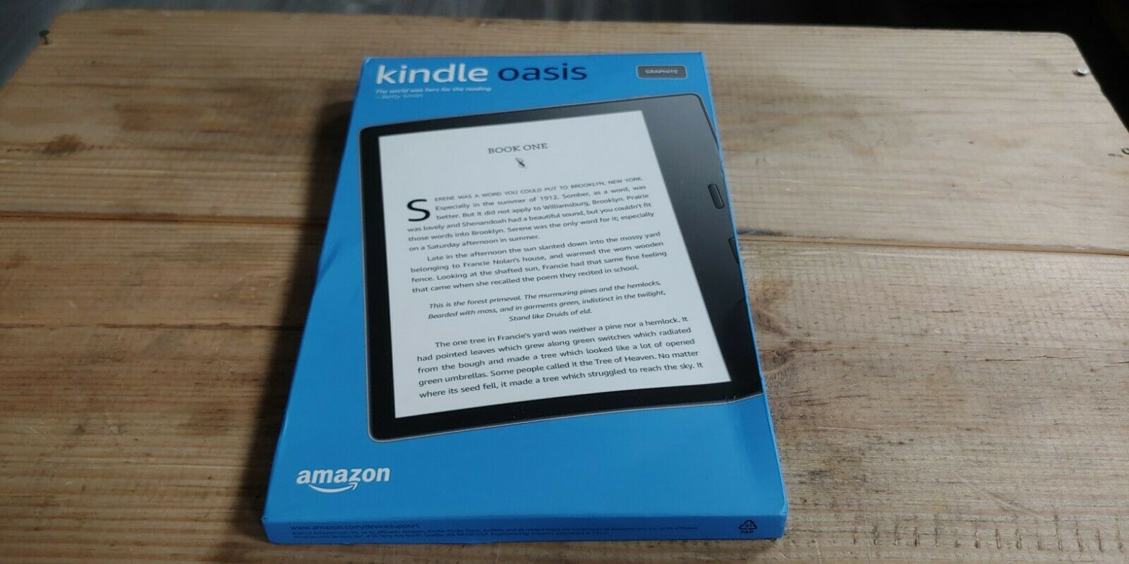 2019 10th Gen Amazon Kindle Oasis Waterproof + Adjustable Warmth 32GB Graphite. Buy it now for 249.99