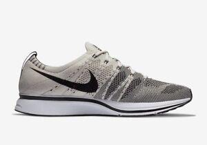 da36d666e22f0 New Nike Flyknit Trainer Pale Grey Black White Men s Size 13 AH8396 ...
