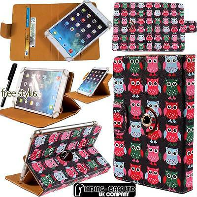 Rotating Stand Wallet Leather Case Cover For Various Lenovo Tab / Tab 2 Tablets