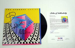 The-Strokes-Full-Band-Signed-Autograph-Angles-Vinyl-Record-Album-PSA-DNA-COA