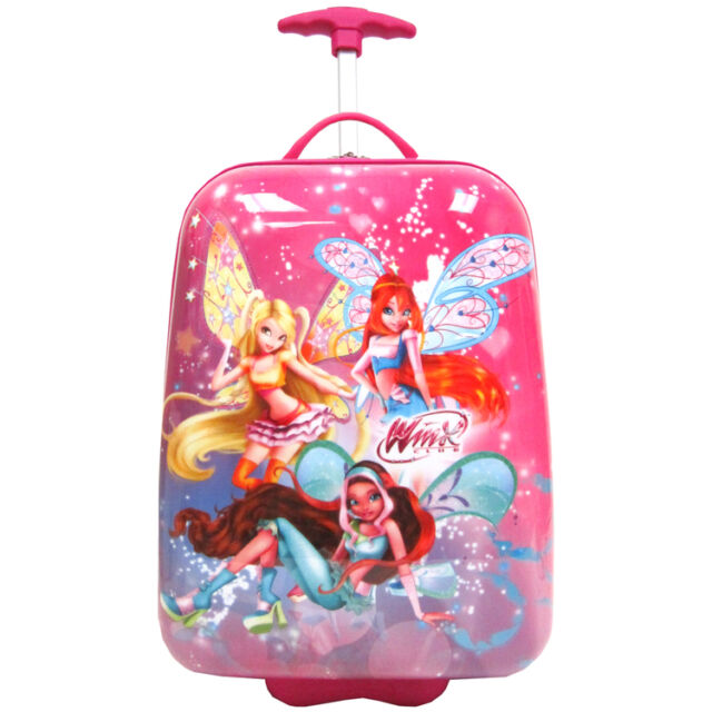 New Disney Winx Club Hardshell Rolling Luggage Case Official Licensed