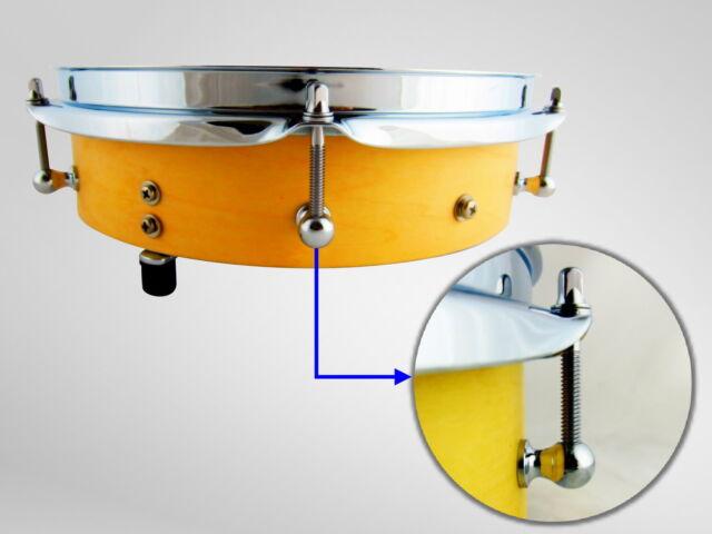 Goedrum 10 Single End Tom Drum Lugs with Mounting Screws