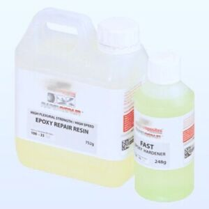 Kitcarbono Resina Epoxi Secado UltraFast F1 1kg fibra de carbono, reparaciones