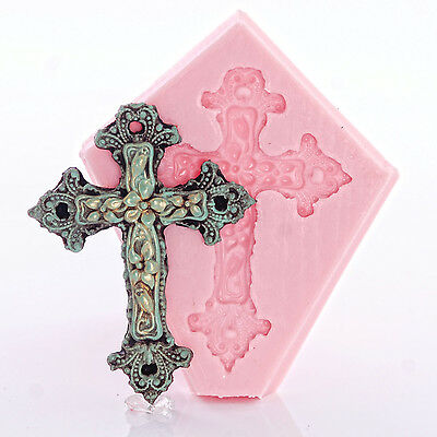 Silicone Cross Mold Fondant, Chocolate, Craft, Jewelry, Candy, Utee, Mould (2)