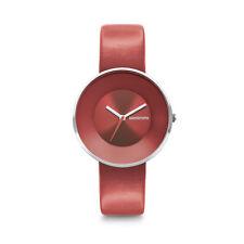 """Lambretta """"Cielo 34 Red"""" Analogico Cuarzo Acero Inox Rojo Cuero Mujer Reloj"""