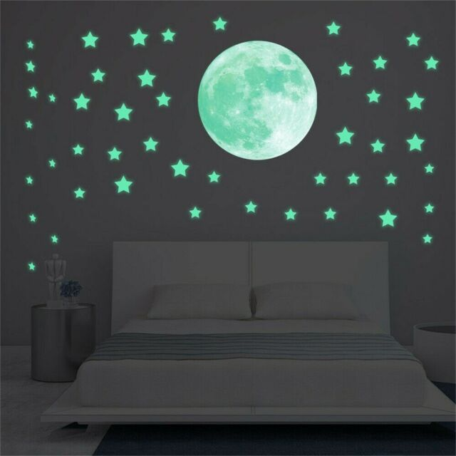 Glow In The Dark Stars And Moon Luminous Planet Space Wall Stickers Decal Decor