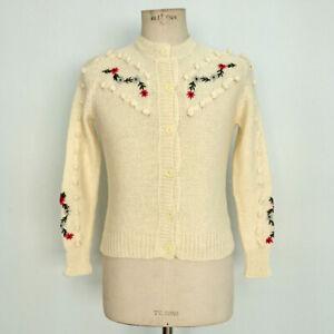 8029 Tirolais Vintage 40 Donna Cardigan It Art Tg q4f8Sx0wg
